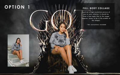 Collage you to sit on GOT Throne (Game of Thrones)