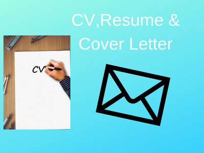 Write,edit and rewrite CV,Resume and Cover Letter