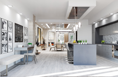 Residential Interior design, 3D modeling and visualization