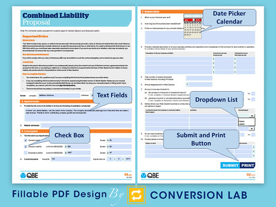 Design and convert Fillable PDF form