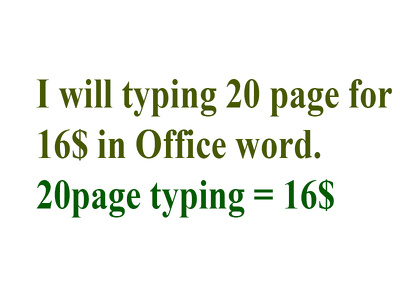 Will typing 20 page