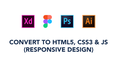 Convert Any Web Design To Html CSS And JavaScript