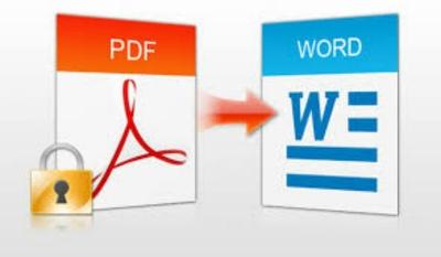 Type PDF or JPG files to Word files