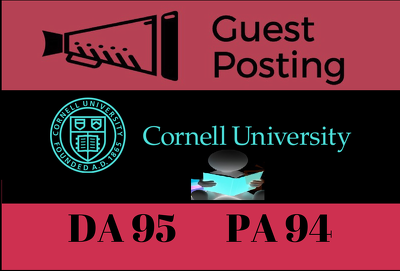 Publish Guest/Blog Post Cornell University - Cornell.edu DA 95