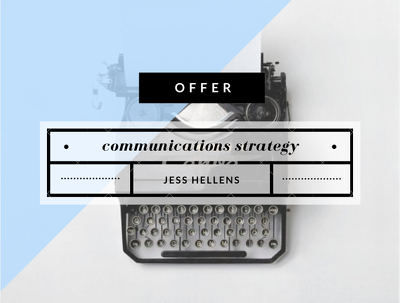 Write a communications strategy