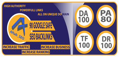 Manually Seo 90 High Authority Unique Domain Do-follow Backlinks