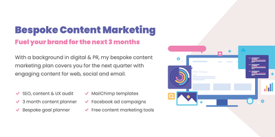 ⭐ 3 month bespoke content marketing plan for brand success