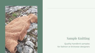 Create sample knit garment/accessory