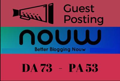 Write and Publish Guest Post on NOUW Blog - Nouw.com DA 73
