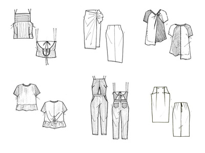 Turn your idea into a flat technical drawing by hand