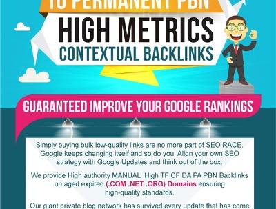 Create 10 Permanent PBN High Metrics Contextual Backlinks