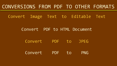 Do conversions from PDF to other formats also of 30 pages