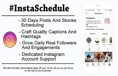 Schedule Instagram Posts Stories and Grow Social Media Marketing