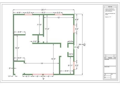 Made Efficient Autocad Floor Plan for your home or Office