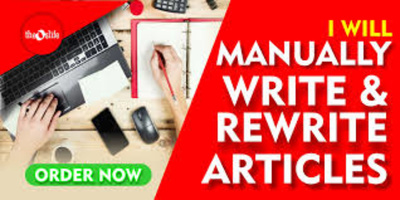 Write and rewrite articles of 500 words in all topics