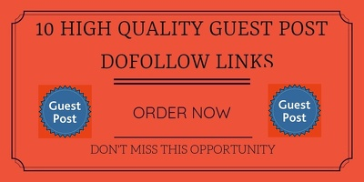 Write and Publish 10 High Authority Sites DA 50 - 98 Do-follow