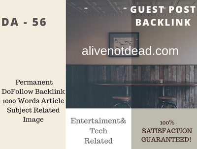 USA Entertainment Related  56 DA Guest post link
