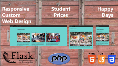 Design custom responsive websites