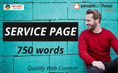 ★ Write a high quality SERVICE PAGE for your website ★