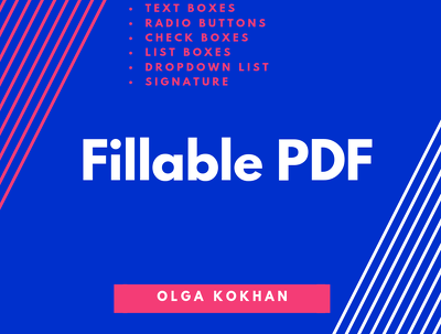 Make a professional looking 2-page Fillable PDF