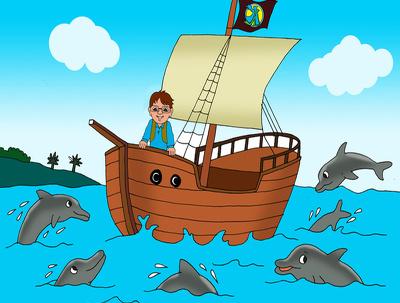 Create Children Book Background Illustration