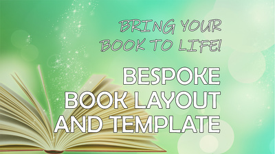 design layout for your book and a template