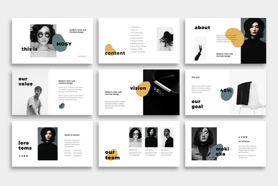 Design Modern Powerpoint Presentation (5 Slide)