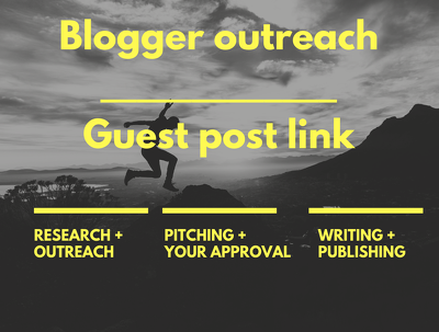 DA 40 Blogger outreach Link Building Niche Related Do-follow