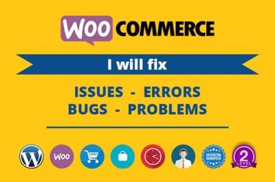 Fix issue, error or bug from your woocommerce store