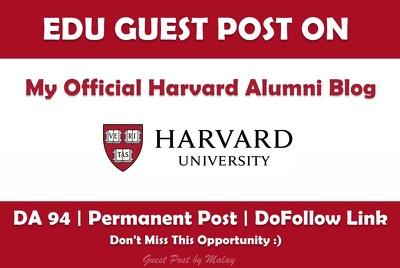 Publish a Post on My Official Harvard Alumni Blog - Harvard.edu