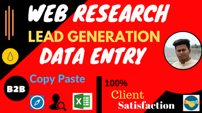 Provide 300 Data Entry, Web Research, LinkedIn leads for