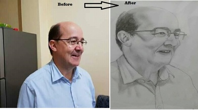 Hand Draw Your Image As Pencil Sketch For A Happy Gift It