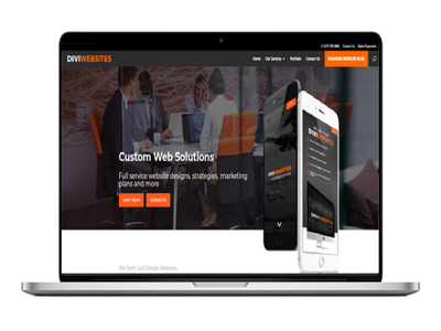 Get a Complete  Custom and Responsive Website
