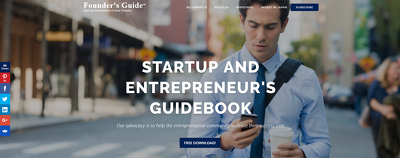 Guest post on Foundersguide.com business website - DA 42