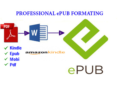 Manually Format Ebook Conversion From Pdf, Word Into Epub And Ki
