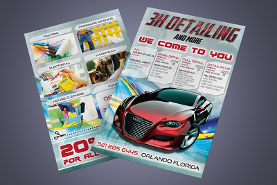 Design a single flyer/postcard/leaflet/brochure