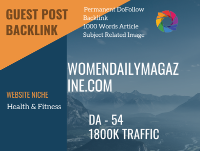 USA Health, Fitness Related 1800 Traffic 54 DA Guest post link