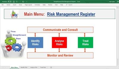 Develop customised risk management spreadsheets