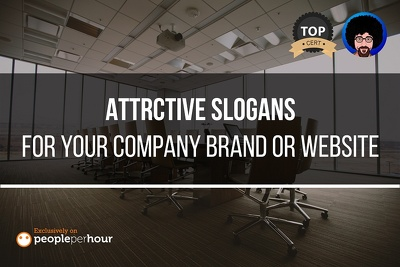 Create an awesome slogans or tagline for your company