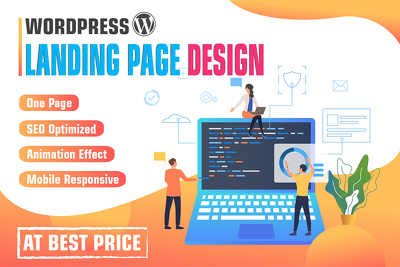 Design and Develop One Page Wordpress landing Page Website