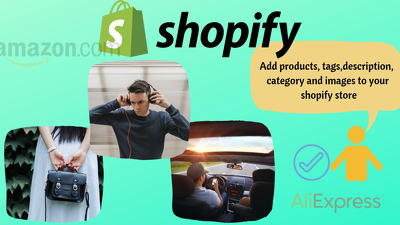 Add 100 single or variant products to your shopify store