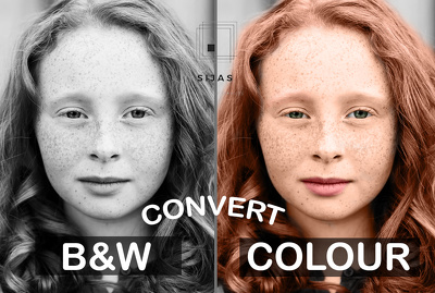 Restore Convert Black and White photo To Color Photo