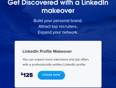 Makeover LinkedIn Profile CV & Cover Letter - was £140