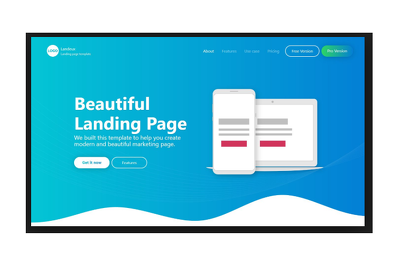 Make Awesome Landing Page Design Eyecathing.