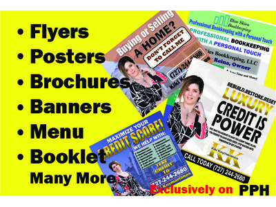 Design Flyers, Brochures, One sheet and Many more