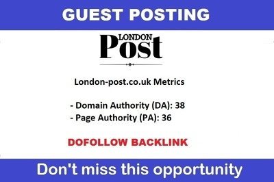 Guest Post On Google News Approved London Post Site