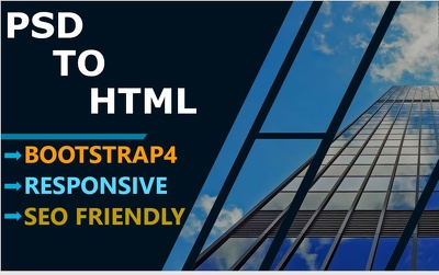Convert Psd To Html Responsive Bootstrap4