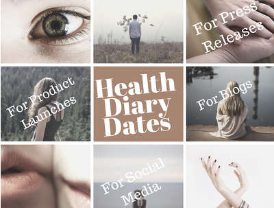 Provide a list of 250+ health related UK calendar diary dates