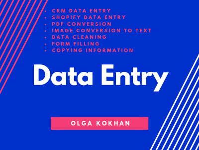 1 Hour Data Entry Services