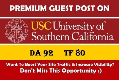 Guest post on California edu University [USC.edu] DA 92 Dofollow